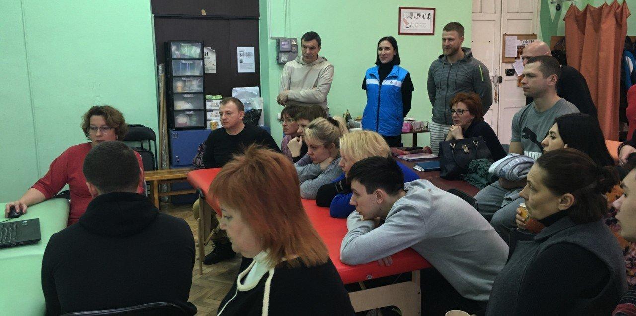 Харьков 2017г. группа Х17 внимательно слушает о тонкостях краниалки